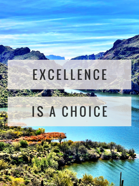 Excellence Is A Choice
