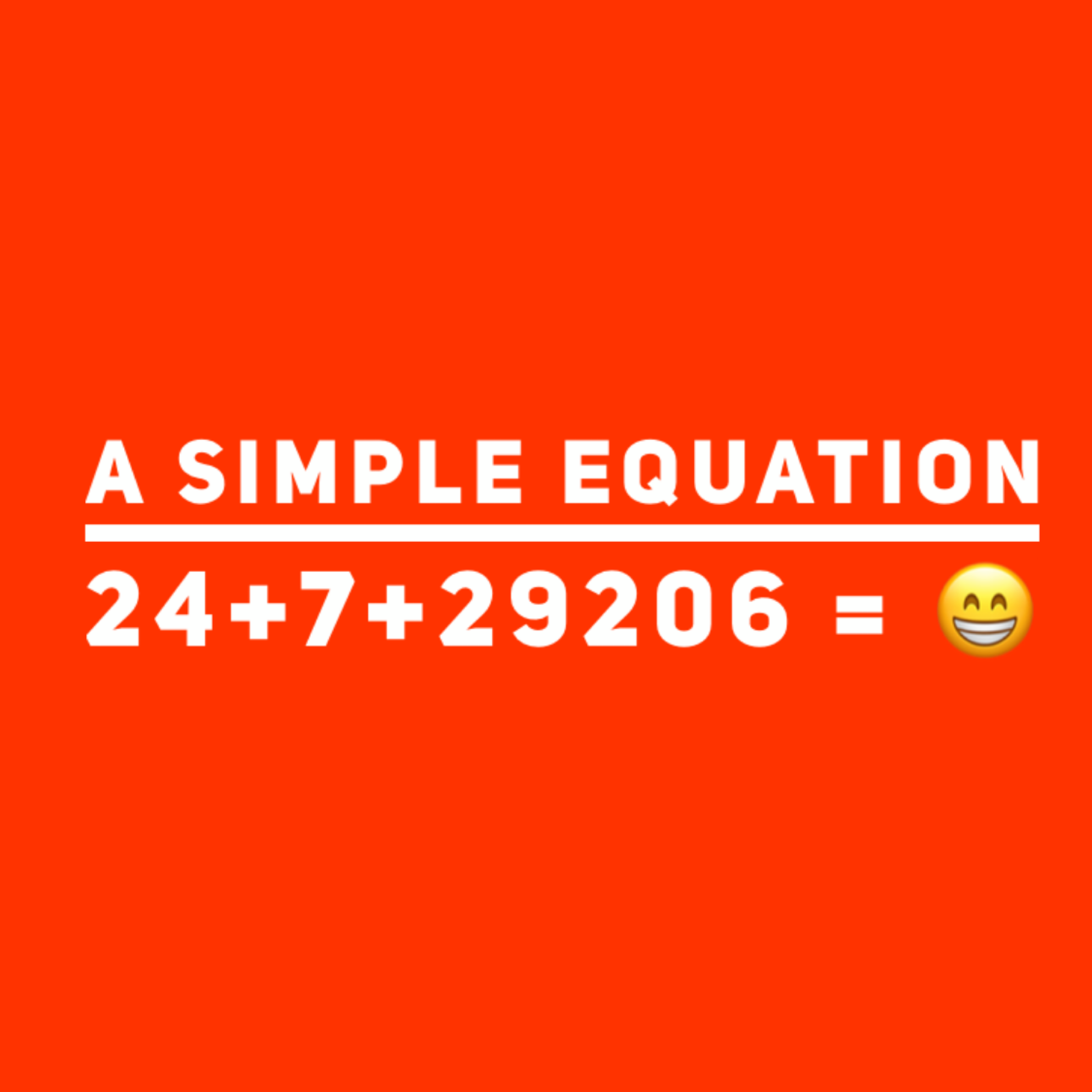 A Simple Equation