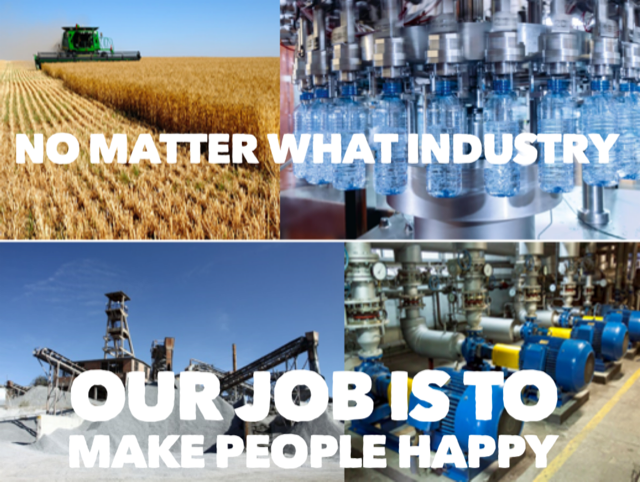 Our Job Is To Make People Happy